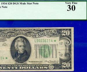 TOUGH STAR 1934 $20 FRN PCGS VF-30  ** San Francisco ** DGS--Mule  # L00236114*-