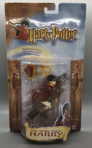 Harry Potter Quidditch Seeker Action Figure Harry on Broom Mattel 56187 - New