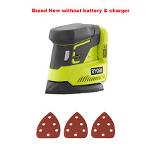Ryobi P401 ONE+ 18-Volt Corner Cat Finish Sander/Sandpaper Assortment -Bare Tool