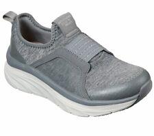 Skechers Walker Gray Shoe Women Sport Comfort Memory Foam Slipon Athletic 149014