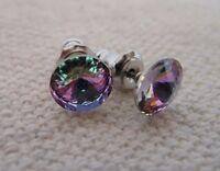 HYPOALLERGENIC Crystal Stud Earrings Lead Free Nickel Free Lt Vitrail Lavender