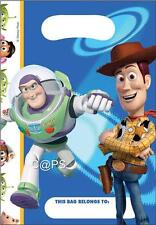 Toy Story...Loot Bags x 6...Treat Bags...Lolly Bags...Woody...Buzz...Lic Disney