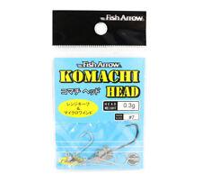 Fish Arrow Jig Head Komachi Head 0.3 grams Size 7 4 Pc per pack (0677)