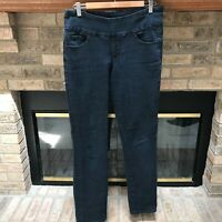 Jag Jeans Women's Jeans High Rise Slim Leg Dark Wash Stretch Size 8 Blue