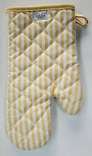 New listing New Williams Sonoma Oven Mitt, Bay Stripe, Potholder, Jojoba Yellow Striped