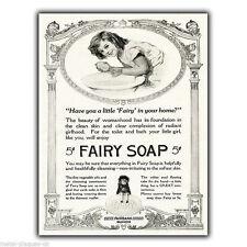 FÉE SAVON 5 Vintage Rétro publicité PLAQUE MURALE EN MÉTAL Salle de bain/Cuisine