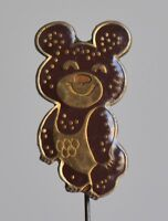 1980 Moscow Olympic Games Mascot Misha  Pin Badge