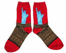 LADIES PATRIOTIC USA STATUE OF LIBERTY POP ART SOCKS ONE SIZE FITS ALL