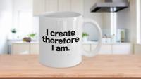 Artist Mug White Coffee Cup Funny Gift for Writer Painter Art Teacher Actor