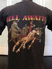 Vtg Slayer 91 Hell Tour Shirt Sz M Exodus Metallica Rock Megadeth Metal Priest
