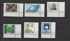 1981 Allemagne Fédérale 6 timbres bord de feuille neufs /T2277