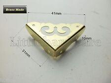 "4Pcs High quality Brass made ""smile"" Decorative Jewelry Box Corner Bracket -31mm"