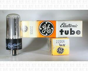 General Electric GE 22DE4 Vacuum Tubes Made In USA NOS Lot Of 2 +Box