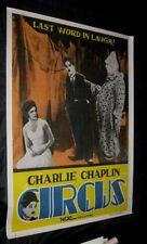 "Original CHARLES CHARLIE CHAPLIN THE CIRCUS India 1 Sheet 29 3/4"" x 39 3/4"""
