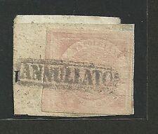 Napoli 1858 - 1/2 gr. rosa chiaro - Sassone 1 - Firmato - Frammento - ASI039