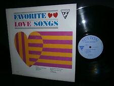 FAVORITE LOVE SONGS LP SUTTON RECORDS SU-261