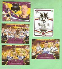 2006  DARREN LOCKYER & BRONCOS PREMIERSHIP PREDICTOR 3-CARD RUGBY LEAGUE SET