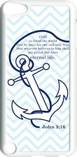 Chevron Faith Anchor with John 3:16 on iPod Touch 5th Gen 5G White TPU Case