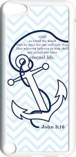 Chevron Faith Anchor with John 3:16 on iPod Touch 5th Gen 5G White TPU Case