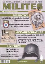MILITES n8 - rivista militaria magazine Wehrmacht elmetti cercamine NSKOV Jeep