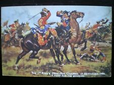 POSTCARD MILITARY  THE 1ST KINGS DRAGOON GUARDS AT DETTINGEN 1743 - A FIGHT STD