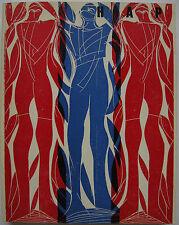 Hap Grieshaber 60 arte Verein Stuttgart 1969 catalogo 6 ORIG. le sezioni in legno