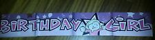 GIRL GIRLY HAPPY BIRTHDAY PARTY GIRL PINK BANNER UK SELLER FAST FREEPOST