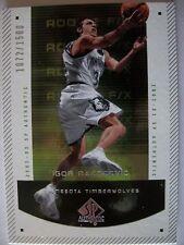 2002-03 SP AUTHENTIC ROOKIE IGOR RAKOCEVIC , TIMBERWOLVES !! BOX 46