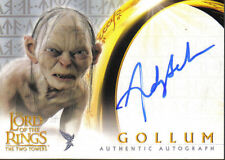 LORD OF THE RINGS TWO TOWERS UPDATE AUTOGRAPH CARD GOLLUM