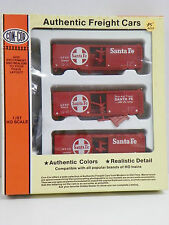 "Con-Cor Ho U/A ""Santa Fe"" 40' Ps-1 Boxcar (3 Pack)"