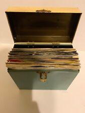 24 Vintage 45 Lp Record In Case