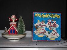 SANTA MUSICAL REVOLVING MUSIC BOX VINTAGE JAPAN CHRISTMAS TREE HOUSE REINDEER NB