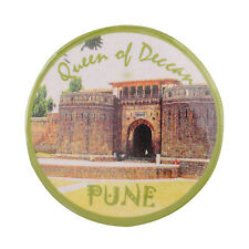 Fridge Magnet Queen of Deccan Pune Maharashtra India Souvenir Button Pin Badge