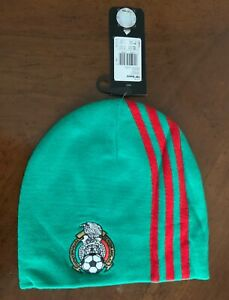 Adidas Mexico National team green and red  Soccer Woolie Beanie Cap Hat