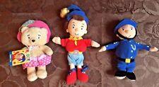 Noddy Soft Toys x 3 ~ Noddy Mr Plod Tessie Bear ~ Good Condition ~ Collectable