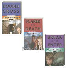 CHLOE & LEVESQUE MYSTERIES  Double Cross, Scared to Death, Break & Enter (pb)3Bk