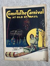 """Come To The Carnival At Old St. Paul"" 1916 Sheet Music"