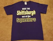 Baltimore Ravens Game Day Fan T-Shirt - Purple Anti-Steelers Graphic - Small (S)