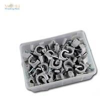 100 Kabelschellen grau, für Kabel max Ø10mm Kabelschelle Nagelschellen Nagelclip