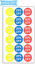 Pop Resin 10% 25% 50% Off Sale Price Stickers Labels Percent Off 14353511