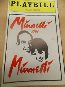 MINNELLI ON MINNELLI PLAYBILL FROM 1999 BROADWAY SHOW STARRING LIZA MINNELLI