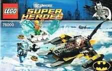 *LEGO INSTRUCTIONS Super Heroes Arctic Batman vs Mr Freeze MANUAL ONLY 76000 NEW