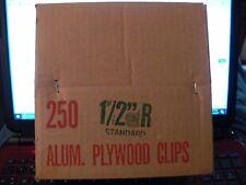 """1/2"""" Aluminum Plywood Clips 250 Pcs. Nib"""