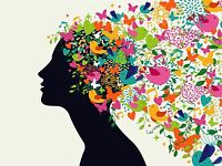 ART PRINT POSTER PAINTING DRAWING ABSTRACT PSYCHEDELIC HAIR DESIGN LFMP0916