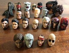 Custom Marvel Legends DC Comics Power Rangers 6? Figure Heads Lot