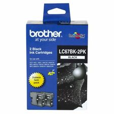 Genuine Brother LC67BK2PK Black Ink Cartridge Value Pack