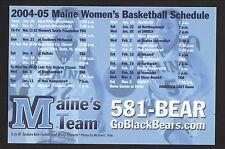 Maine Black Bears--2004-05 Basketball Magnet Schedule