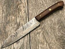 """Ash DT13 damascus steel custom handmade kitchen chef knife 10"""""""