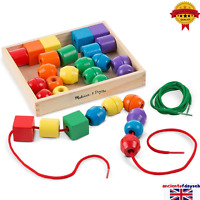 Kids Toddlers Educational Toy 544 Primary Lacing Wooden Beads Children Best Gift