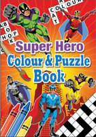 A6 Super Hero Colouring Activity Book With Puzzles Kids children Fun Arts Crafts